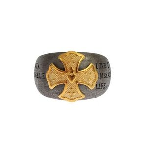 D19146-3 Gold Crest 925 Sterling Silver Ring